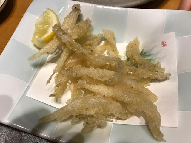 白魚の天婦羅